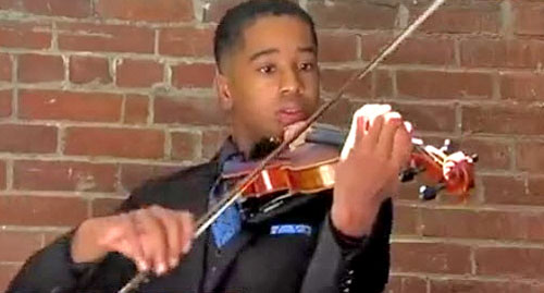 Maxwell Fairman playing violin